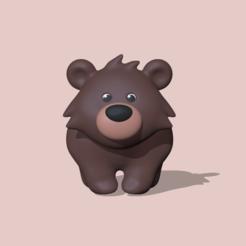 Bear walking (1).PNG Download STL file  Bear • 3D print template, usagipan3dstudios