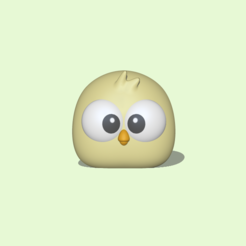 Chick1.PNG Download STL file A Chick to decorate and play • 3D printable object, usagipan3dstudios
