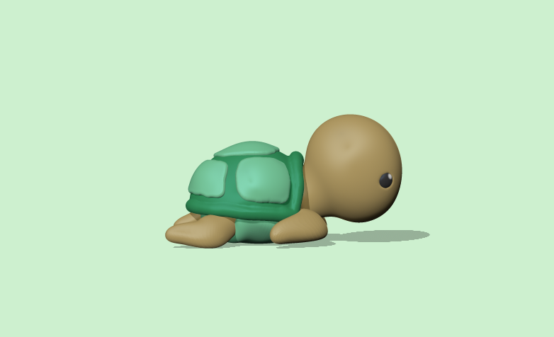 Download Stl File Cute Turtle 3d Printable Template Cults