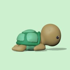CuteTurtle1.PNG Download STL file Cute Turtle • 3D printable template, usagipan3dstudios