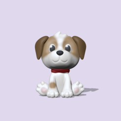 Cute Dog (1).PNG Download STL file Cute Dog • 3D print object, usagipan3dstudios