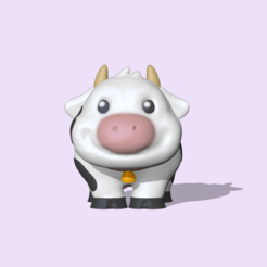 Cute Cow (1).PNG Download STL file Cute Cow • 3D print template, usagipan3dstudios