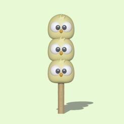Dango Chick1.PNG Télécharger fichier STL Une mignonne Chick Dango pour décorer et jouer • Objet pour imprimante 3D, usagipan3dstudios
