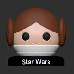 Leia_2.PNG Download free STL file Princess Leia • 3D print template, usagipan3dstudios