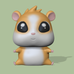 Hamster (1).PNG Télécharger fichier STL Hamster • Design pour impression 3D, usagipan3dstudios