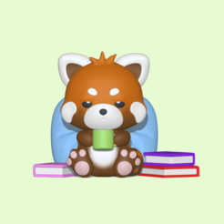 Red Panda1.PNG Download STL file A cute Sleepy Red Panda to decorate and play • 3D printable object, usagipan3dstudios