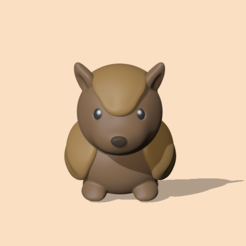 Armadillo1.PNG Download STL file An Armadillo to decorate and play • 3D printable model, usagipan3dstudios