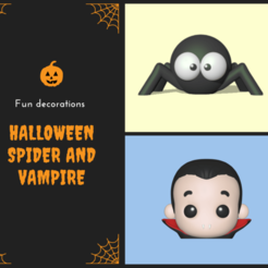 tiers (8).png Download STL file Halloween Kit - Spider and Vampire • Template to 3D print, usagipan3dstudios