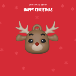 Reindeer.png Download STL file Reindeer ornament • Template to 3D print, usagipan3dstudios