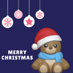 tiers (6).png Download STL file Christmas Bear • 3D printing template, usagipan3dstudios