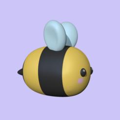 CuteBee1.PNG Download STL file Cute Bee • 3D printer model, usagipan3dstudios