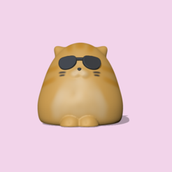 CatSunglasses1.PNG Download STL file A Cat wearing Sunglasses to decorate and play • 3D printable template, usagipan3dstudios