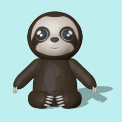 Sloth.PNG Télécharger fichier STL Sloth • Plan imprimable en 3D, usagipan3dstudios