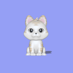 Sitting Cat1.PNG Download STL file Sitting Cat • 3D print template, usagipan3dstudios