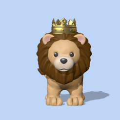 LionKing1.PNG Download STL file Lion King • 3D printing design, usagipan3dstudios