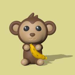 Monkey.PNG Download STL file Monkey • 3D printing design, usagipan3dstudios