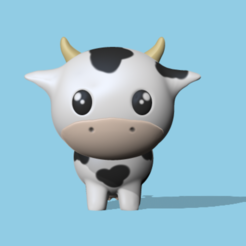 Cow 1.PNG Download STL file Cow • 3D printing object, usagipan3dstudios