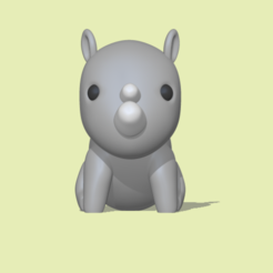 Rhinoceros1.PNG Download STL file Rhinoceros • 3D printing template, usagipan3dstudios