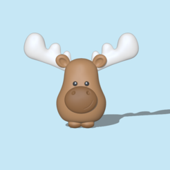 Moose1.PNG Download STL file Moose • 3D print object, usagipan3dstudios