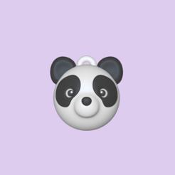 Panda Ball1.PNG Télécharger fichier STL Jolie balle de panda - Charme • Objet pour imprimante 3D, usagipan3dstudios