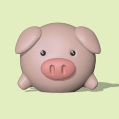 Pig.PNG Download STL file Pig • 3D printable design, usagipan3dstudios