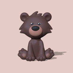 Bear21.PNG Download STL file Sitting bear • 3D print model, usagipan3dstudios