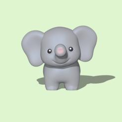 Cute Elephant1.PNG Télécharger fichier STL Eléphant mignon • Modèle pour impression 3D, usagipan3dstudios