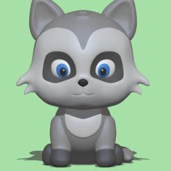 Raccoon.PNG Download STL file Raccoon • Design to 3D print, usagipan3dstudios