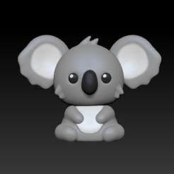 Koala.PNG Download STL file Koala • 3D printable design, usagipan3dstudios