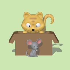 Descargar diseños 3D Gato y ratón, usagipan3dstudios