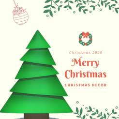 tiers (8).png Download STL file Christmas tree • 3D printer design, usagipan3dstudios
