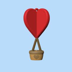 HeartBalloon1.PNG Télécharger fichier STL Mignon ballon coeur - Charme - Saint-Valentin • Design pour imprimante 3D, usagipan3dstudios