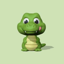 Alligator.PNG Download STL file Alligator • 3D printing design, usagipan3dstudios