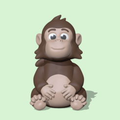 FunnyMonkey1.PNG Download STL file Funny Monkey • 3D printing design, usagipan3dstudios