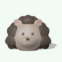 CuteHedgehog1.PNG Télécharger fichier STL Hérisson mignon • Plan imprimable en 3D, usagipan3dstudios
