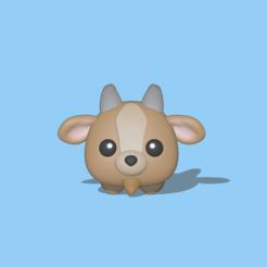 Cute Goat1.PNG Télécharger fichier STL Une jolie chèvre • Objet imprimable en 3D, usagipan3dstudios