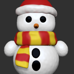 Snowman.PNG Download STL file Snowman • Object to 3D print, usagipan3dstudios