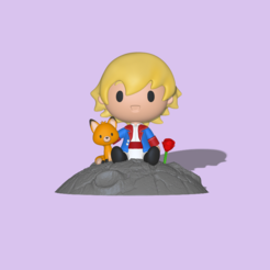 Little Prince1.PNG Download STL file The Little Prince • Model to 3D print, usagipan3dstudios