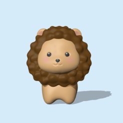 CuteLion1.PNG Download STL file Cute Lion • 3D print object, usagipan3dstudios