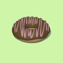 Dunuts1.PNG Download STL file A cute donut to decorate and play • 3D print object, usagipan3dstudios