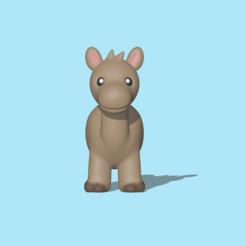 Cute Camel (1).PNG Télécharger fichier STL Un joli chameau pour la décoration et le jeu • Design pour imprimante 3D, usagipan3dstudios