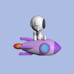 RocketAstronaut2.PNG Télécharger fichier STL Un astronaute-fusée mignon pour décorer et jouer • Objet pour impression 3D, usagipan3dstudios
