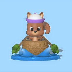 Squirrel_boat1.jpg Download STL file Squirrel boat • Design to 3D print, usagipan3dstudios