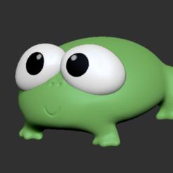 Frog.PNG Download STL file Frog • 3D printable object, usagipan3dstudios