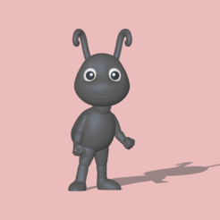 Ant1.PNG Download STL file A cute Ant to decorate and play • 3D printing template, usagipan3dstudios