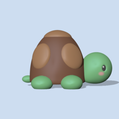LittleTurtle (2).PNG Télécharger fichier STL Mignonne petite tortue • Plan pour imprimante 3D, usagipan3dstudios