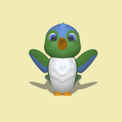 Bird1.PNG Download STL file Little Bird • Object to 3D print, usagipan3dstudios