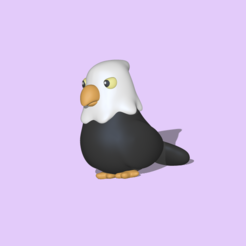 Eagle1.PNG Download STL file A cute Eagle to decorate and play • Object to 3D print, usagipan3dstudios