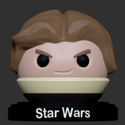 HanSolo_2.PNG Download free STL file Han Solo • Model to 3D print, usagipan3dstudios