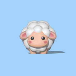 Cute Sheep1.PNG Download STL file Cute sheep • 3D printer design, usagipan3dstudios